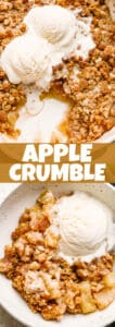 apple crumble pin image