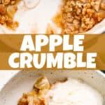 apple crumble pin image