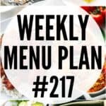 WEEKLY MENU PLAN (#217)