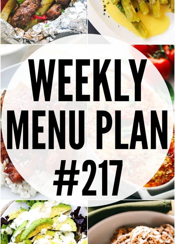 WEEKLY MENU PLAN #217 PIN IMAGE