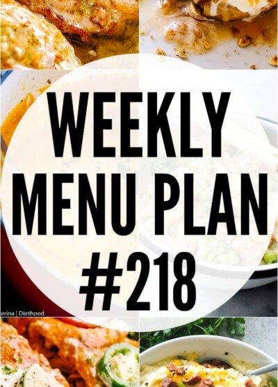 Weekly Menu Plan 218 pin image