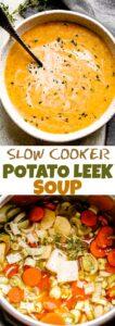Potato Leek Soup Pin Image