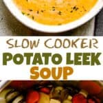 Potato Leek Soup Pin Image