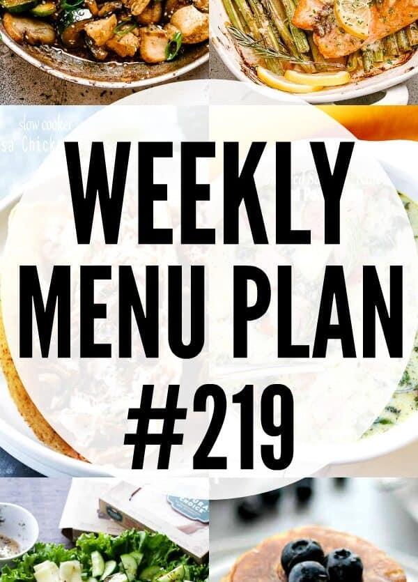 WEEKLY MENU PLAN #219