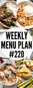 weekly menu plan #220 pin image