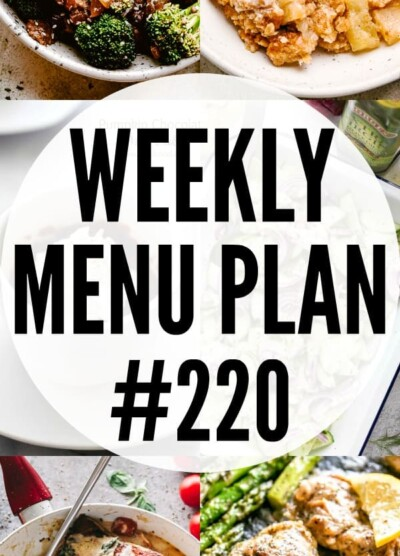 weekly menu plan #220 pin image
