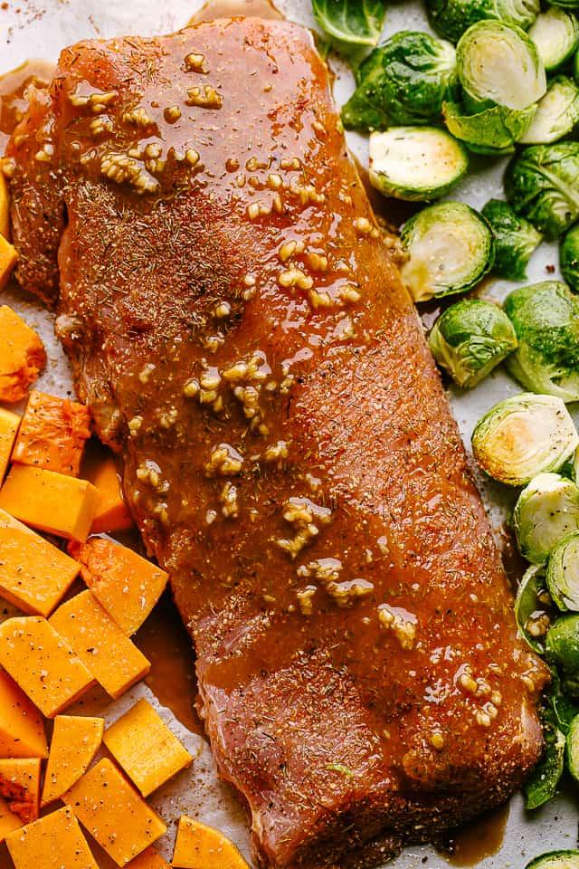 Honey Garlic Glazed pork loin roast