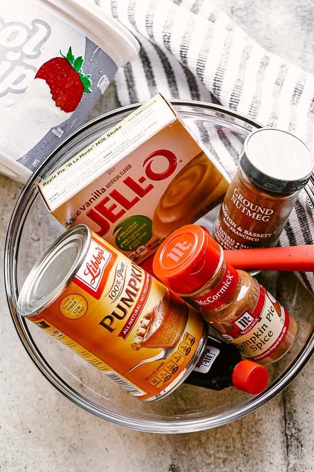 Ingredients for Pumpkin Dip