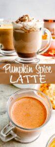 pumpkin spice latte pin image