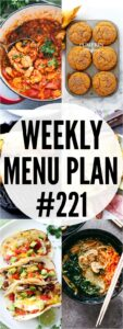 weekly menu plan 221 collage