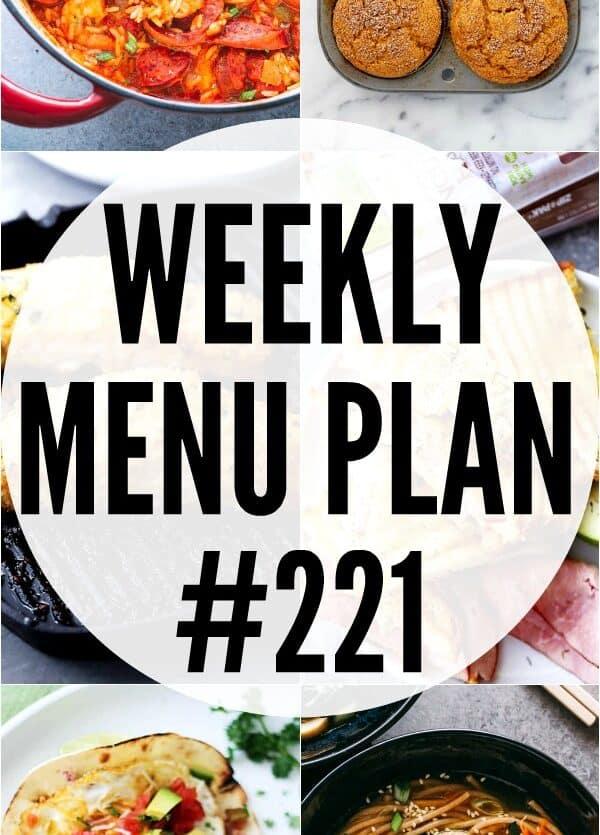 weekly menu plan 221 collage