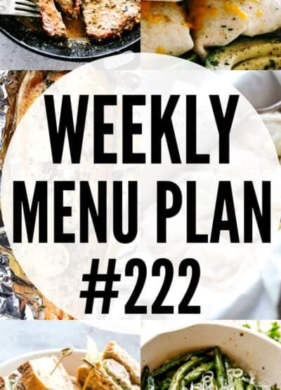 WEEKLY MENU PLAN 222 PIN IMAGE