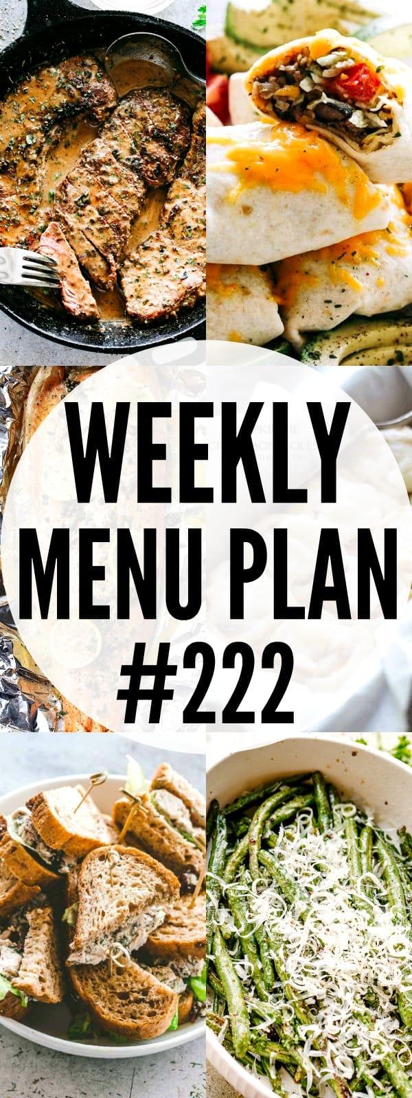 WEEKLY MENU PLAN 222 PIN IMAGE