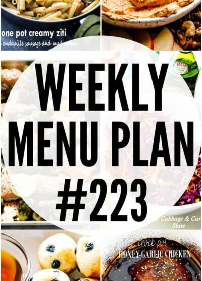 WEEKLY MENU PLAN 223 PIN COLLAGE