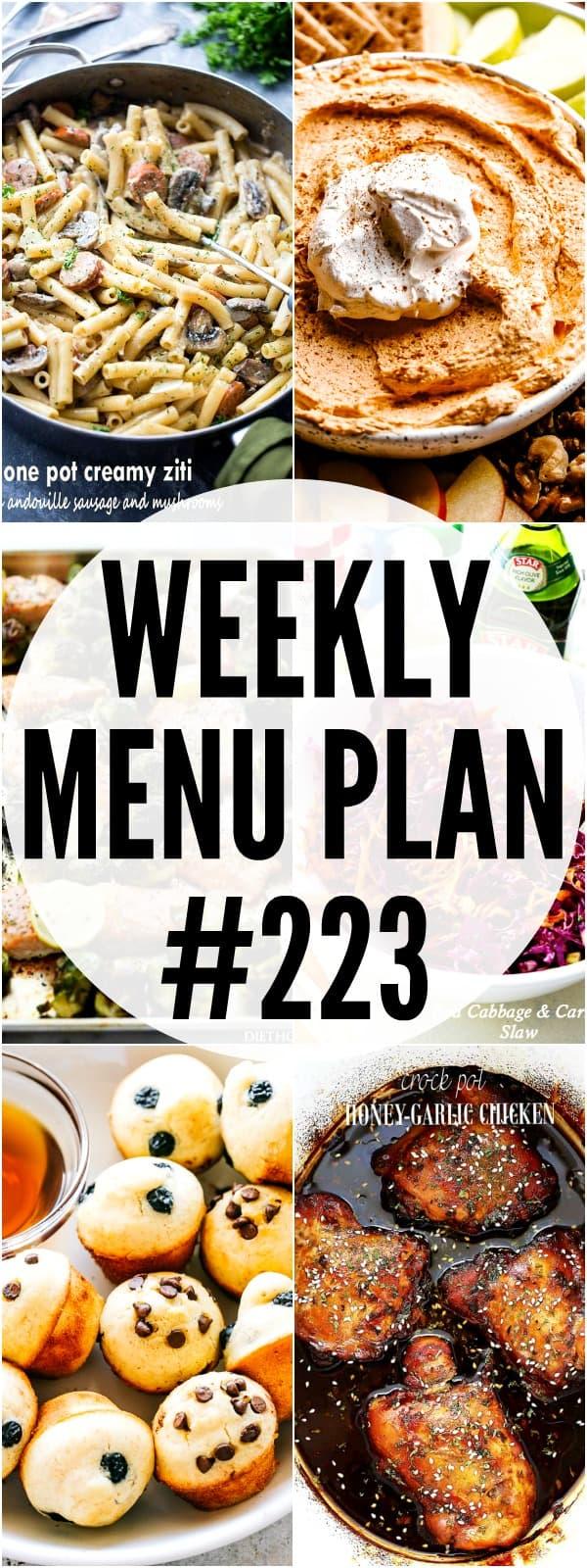 WEEKLY MENU PLAN 223 PIN COLLAGE