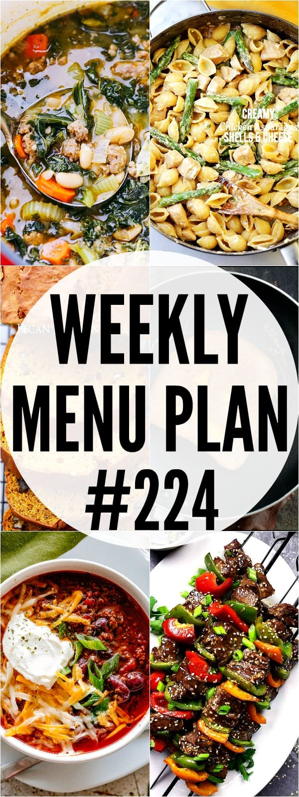WEEKLY MENU PLAN 224 PIN IMAGE