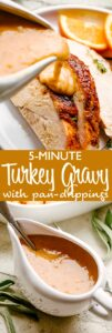 Turkey Gravy with drippings pin image