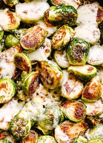 Cheese covered brussel sprouts.