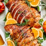 Garlic Lemon Butter Roast Turkey Breast Recipe