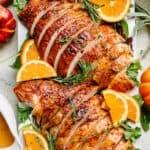 Garlic Lemon Butter Roast Turkey Breast Recipe