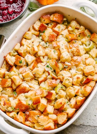 Traditional Thanksgiving Stuffing or Dressing.