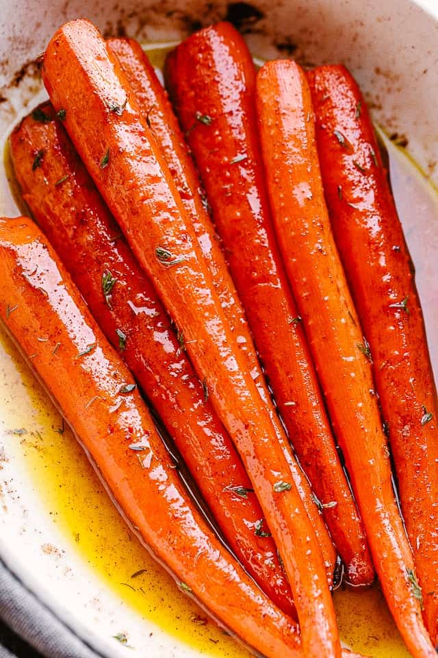Maple Roasted Carrots Diethood