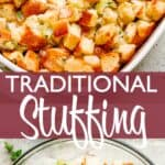 traditional stuffing pinterest image