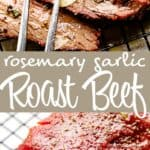 rosemary garlic roast beef pin image