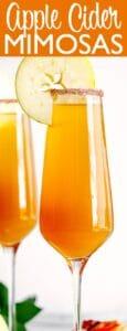 apple cider mimosas pin image