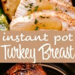 instant pot turkey breast pin image