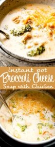 instant pot broccoli cheese soup with chicken pin image
