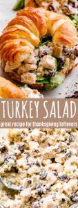 turkey salad pin image