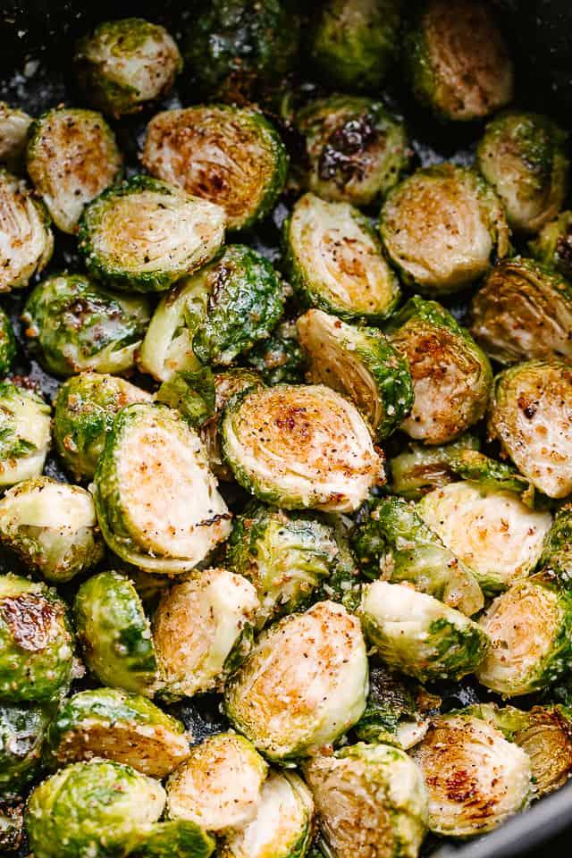 air fryer parmesan brussel sprouts