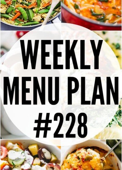 WEEKLY MENU PLAN 228 pin collage