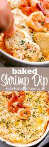 baked shrimp dip pin image
