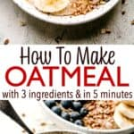 how to make oatmeal pin image