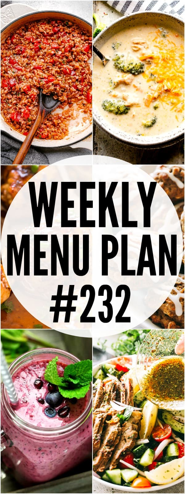 WEEKLY MENU PLAN 232 PIN IMAGE