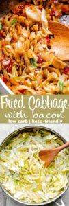 fried cabbage pin image