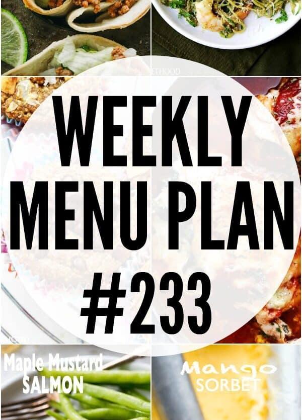 WEEKLY MENU PLAN 233 PIN IMAGE