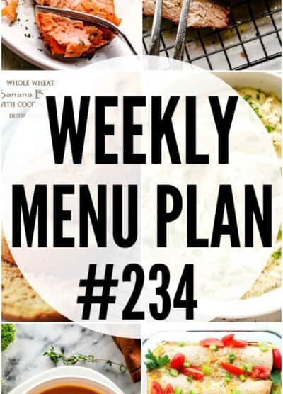 weekly menu plan 234 pin image