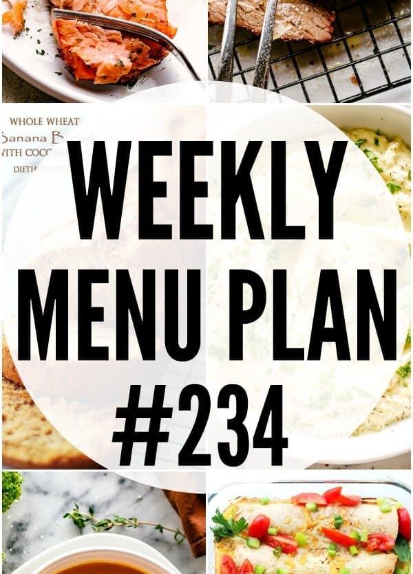 weekly menu plan 234 pin image