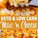 keto macaroni and cheese long pinterest image