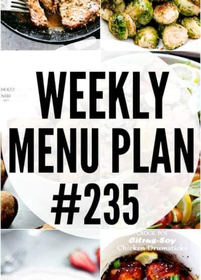 WEEKLY MENU PLAN 235 PIN IMAGE