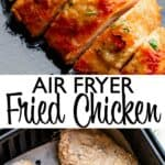 air fryer fried chicken pin image