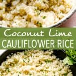 COCONUT LIME cauliflower rice pin image