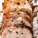 Crock Pot Garlic Balsamic Pork Loin