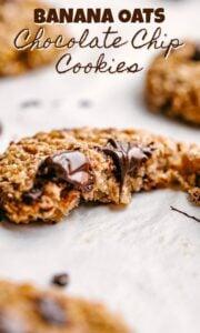 banana oats cookies pin image