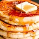 buttermilk pancakes pin image