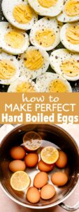 hard boiled eggs pin image