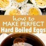 hard boiled eggs pin image